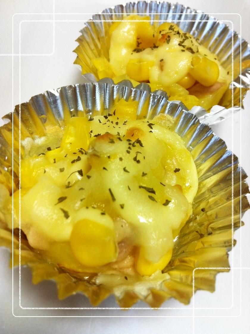 お弁当に♥ツナマヨコーンポテトチーズ焼き