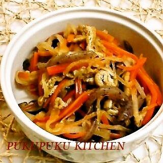 大根と人参と油揚げの炒め煮(煮なます)