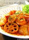 ■えび・蓮根・里芋のトマト煮込み■