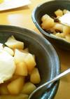 温かいりんごとマスカルポーネのデザート