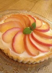 簡単!りんごとチーズケーキのタルト