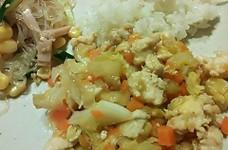 簡単!野菜ととうふのヘルシー味噌炒め