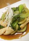 中華風いかと青梗菜のオイスターソース炒め