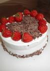 板チョコハートデコショートケーキ