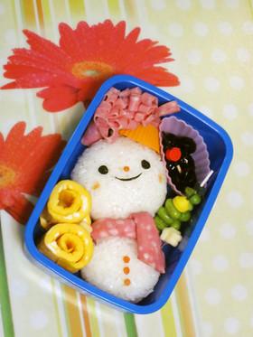雪だるまのキャラ弁当