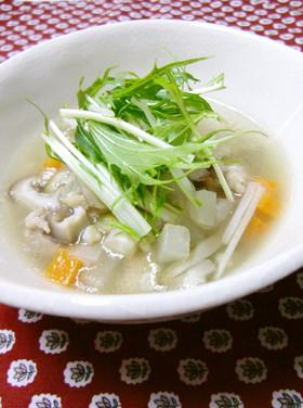 あったか♡そばの実スープ
