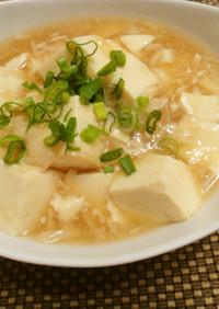 優しい味の豆腐の湯葉あんかけ