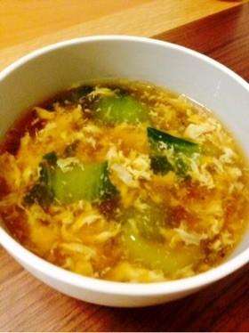チンゲン菜と卵のトロトロスープ