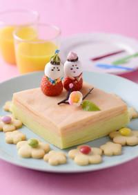 バター好きの♪雛祭ケーキ❤バウムクーヘン
