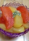 林檎のコンポート(白ワイン・ざくろ)