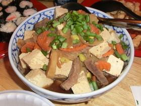 【海外で!】肉豆腐煮!