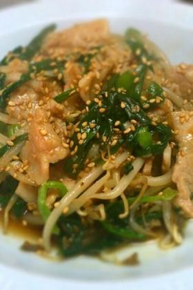ご飯がすすむ♪豚ニラもやしの中華炒め