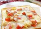 ひよこ豆とトマトのスイートチリトースト