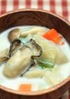 【和薬膳】カキとカブのミルクスープ