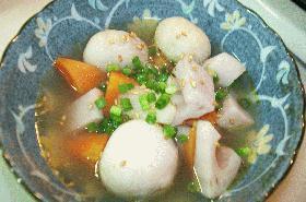 根菜の中華スープ