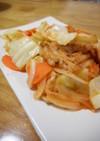 ホルモンキムチ野菜炒め