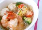 ピリ辛!旨っ♡春雨入り♪アジアン風スープ