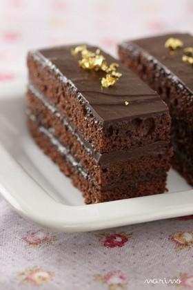 バレンタインに☆生チョコケーキ