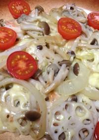 野菜とエビのチーズ焼き