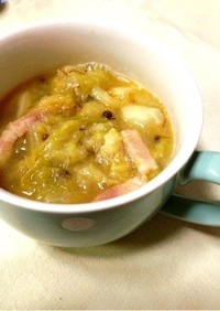 花椒香るとろとろキャベツのXO醬スープ