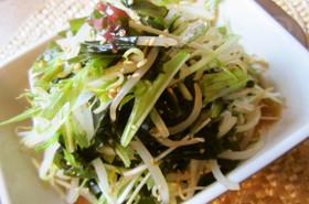 ☆シャキシャキ水菜と海藻のナムル☆