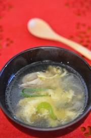 雑煮のだしリメイク☆鶏と卵の親子かき玉汁の写真
