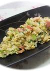 ウインナーと小松菜のチャーハン