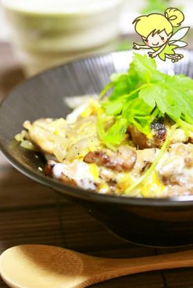 セラミックコート焼網で炭火焼風鶏の親子丼