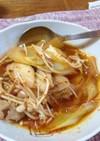 たっぷりスープのキムチチゲ