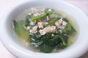 ♬小松菜と鶏ひき肉の春雨アジアンスープ♫