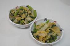 [簡単]白菜と春菊の湯引きごまポン和え
