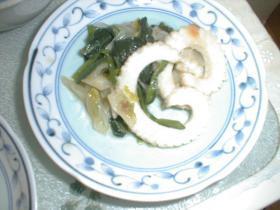 イカとレタスのあっさり炒め