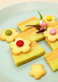 バター好きの♪お花のマーブルクッキー
