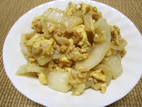 玉ねぎのソース卵とじ