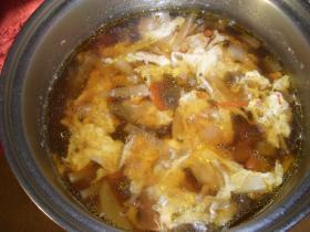 超カンタン!肉野菜卵とじつゆ