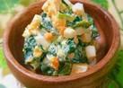 簡単美味♪ほうれん草のゆで卵マヨサラダ