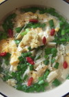 風邪をひいた時に、ニラ玉温麺 by matchbox