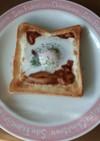 ハヤシをリメイク→目玉焼きのせトースト
