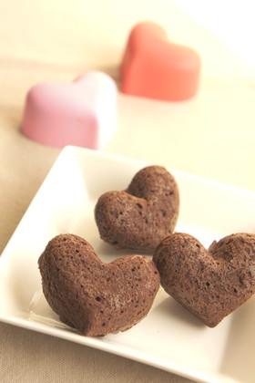 ハートのプチチョコケーキ