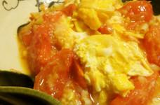 トマトとたまごの醤油麹炒め