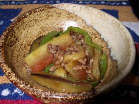 スイカの皮と挽き肉の炒め物