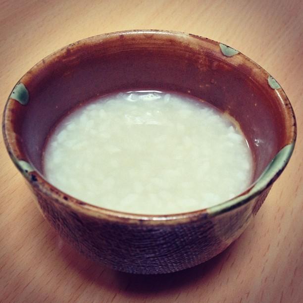 米麹で作る本格『甘酒』保温水筒を使います