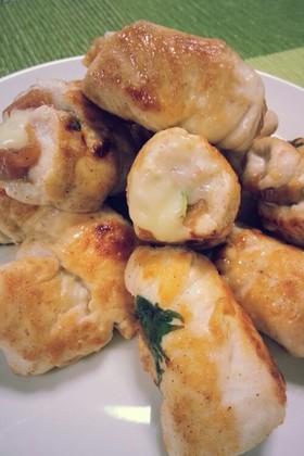鶏ササミの梅しそチーズ巻き
