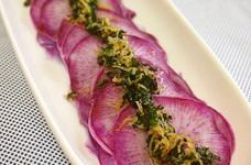 シンプル美味!紫大根のしらすドレサラダ