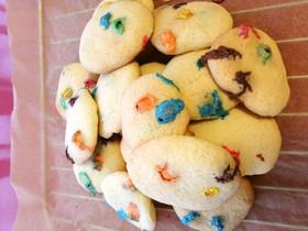 ポリ袋で簡単♪カラフルチョコクッキー
