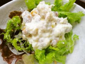節分が終わったら……福豆と豆腐のサラダ。