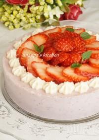 豆乳de苺のムース風ケーキ