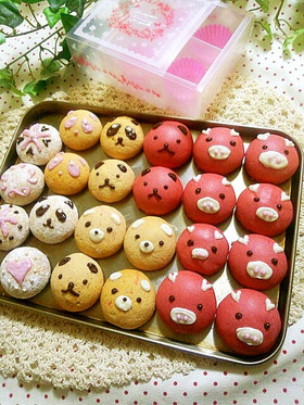 バレンタイン☆友チョコ☆苺チーズクッキー