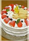 シフォン生地でデコレーションケーキ