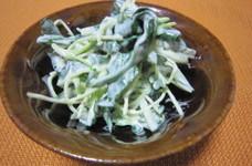 きゅうりと貝割れ大根のさっぱりサラダ
